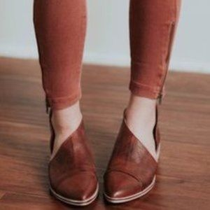 Free people Royale Pointy Toe Flats Booties 8 38